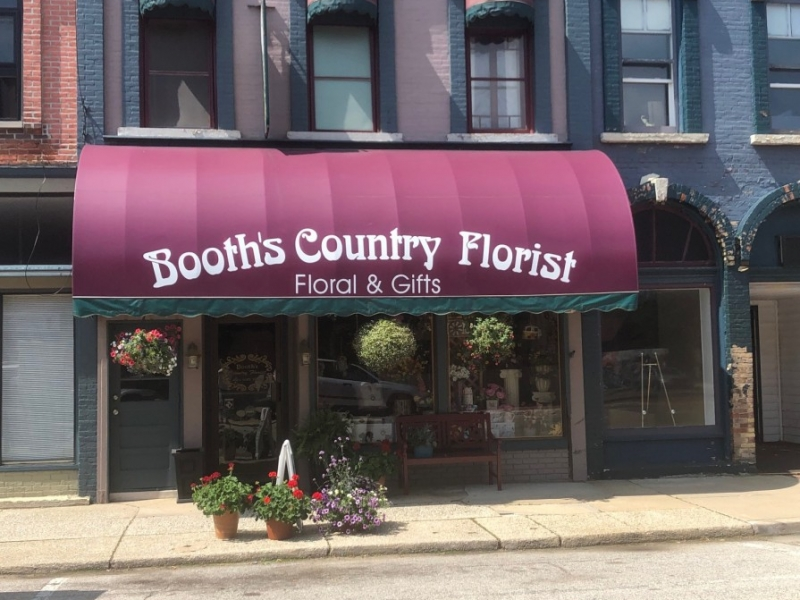 Digital Print Awning_Booth's Country Florist