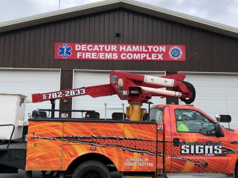 Digital Print Sign_Decatur Hamilton Fire-EMS Complex_Vehicle Graphics_Creative Vinyl Signs Truck