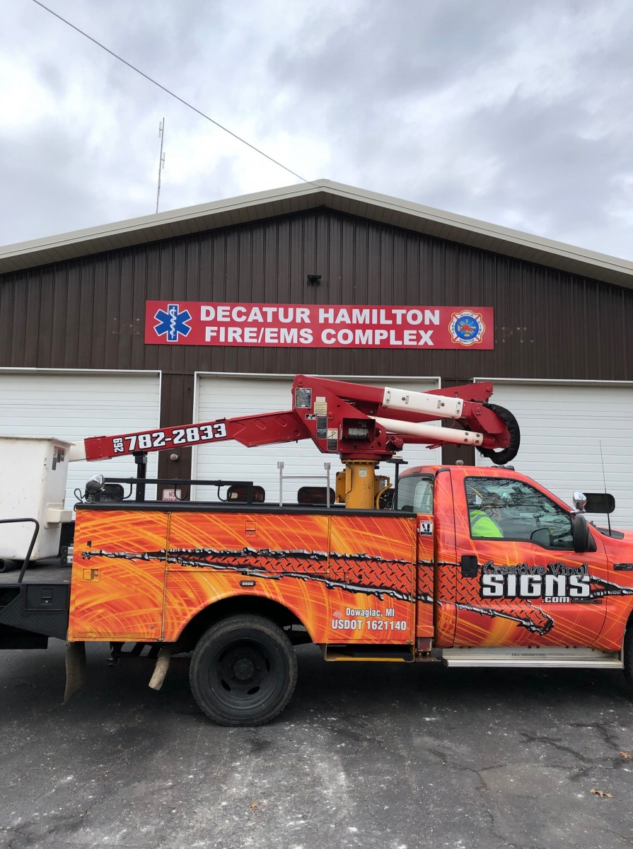 Digital Print Sign_Decatur Hamilton Fire-EMS Complex_Vehicle Graphics_Creative Vinyl Signs Truck