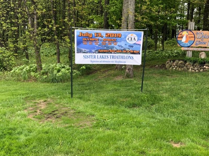 Digital Vinyl Sign Print_Sister Lakes Triathlons 2019