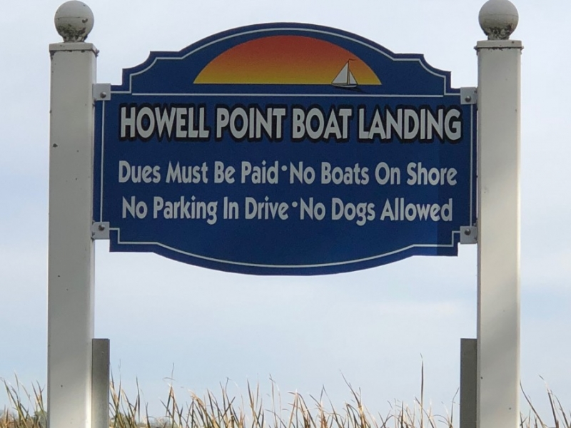 Printed Sign_Howell Point Boat Landing