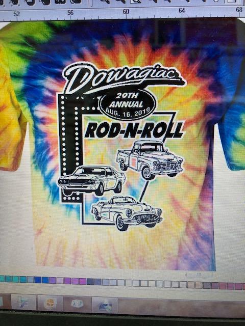 T-Shirt Printed Graphics_Dowagiac Rod-N-Roll_29th Annual