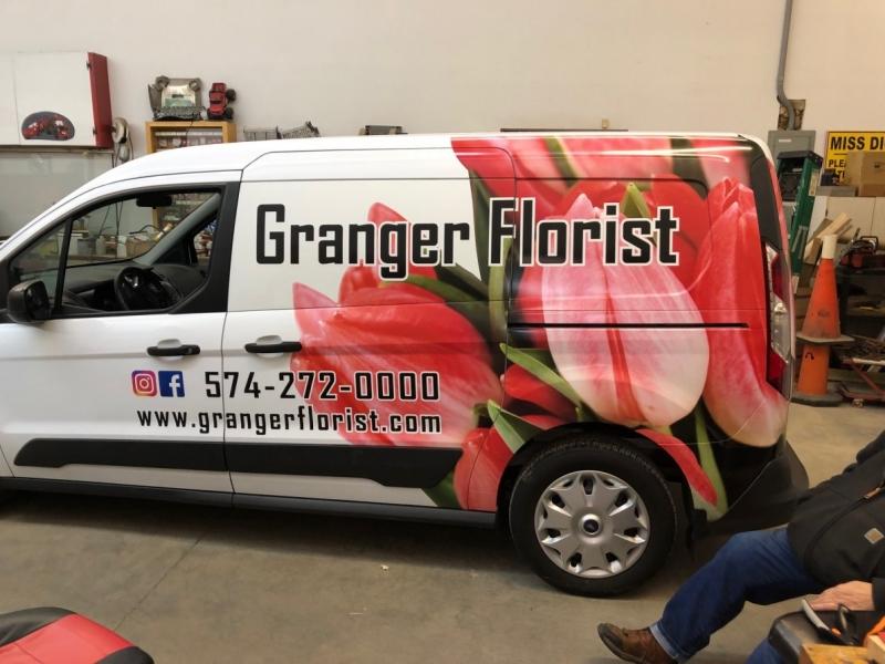 Vehicle Graphics_Granger Florist Vehicle Van