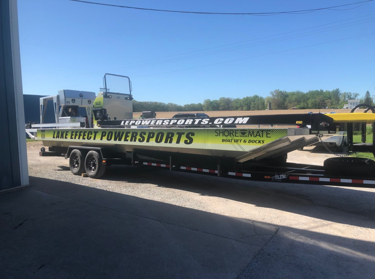 Vehicle Graphics_Lake Effect Power Sports Boat Lift & Dock Vehicle