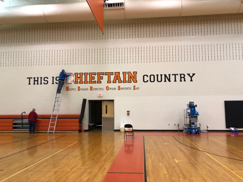 Vinyl Graphics_Heiftain Country_Basketball Court Wall